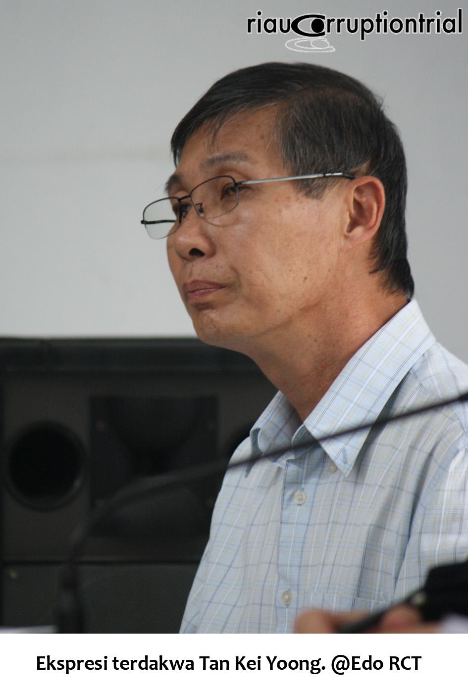 Ekspresi terdakwa Tan Kei Yoong
