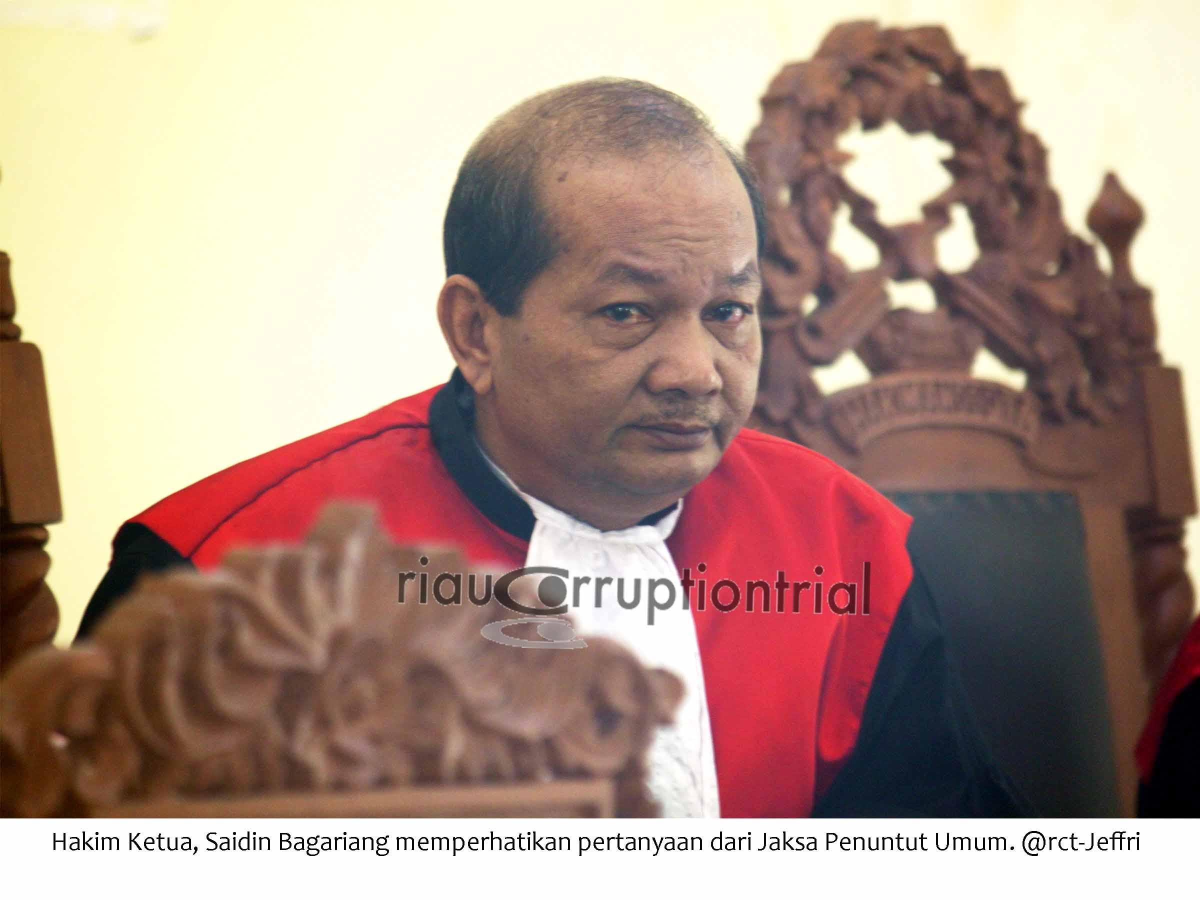 hakim ketua Saidin Bagariang