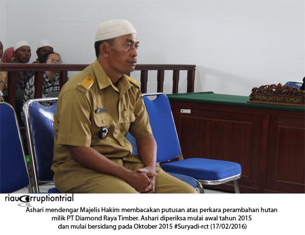 Ashari depan Majelis Hakim