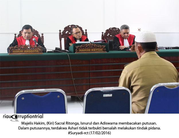Majelis Hakim Baca Putusan
