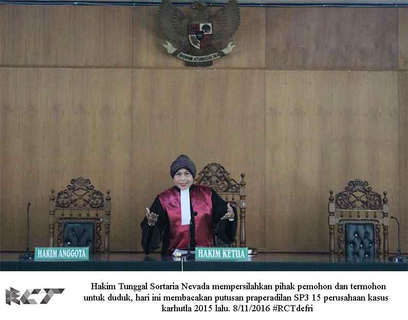 Hakim tunggal 8 November