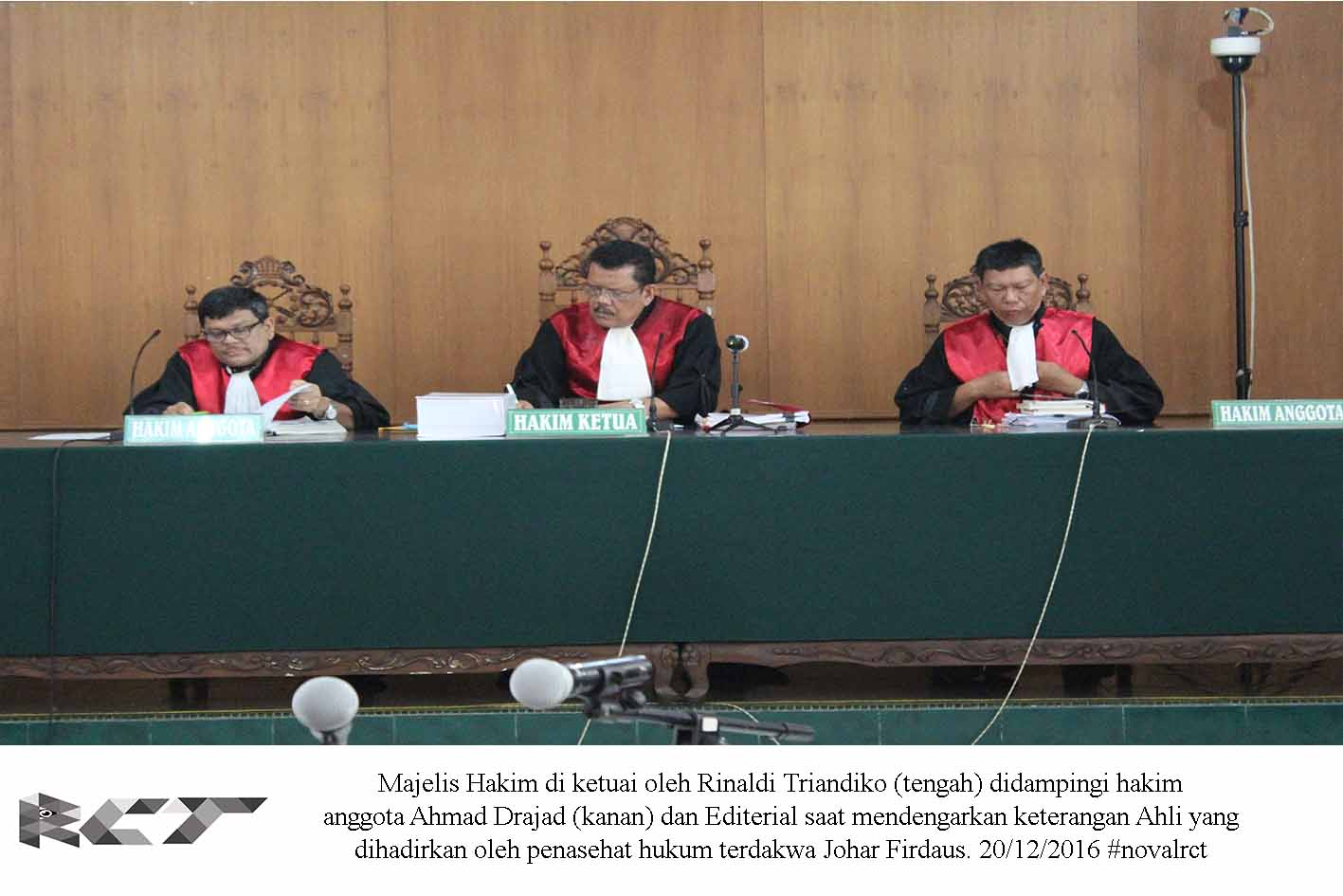 majelis hakim sidang johar suparman 20 des 16