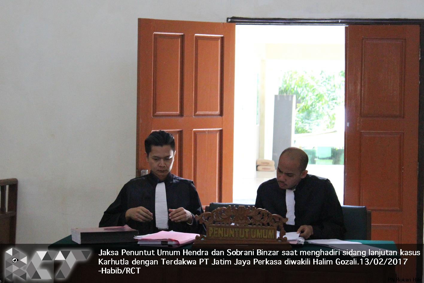 Jaksa Penuntut Umum 13-02-2017