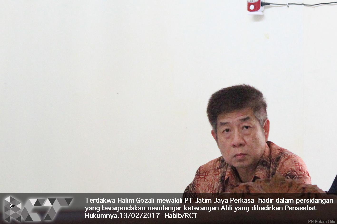 Terdakwa Hali Gozali 13-02-2017